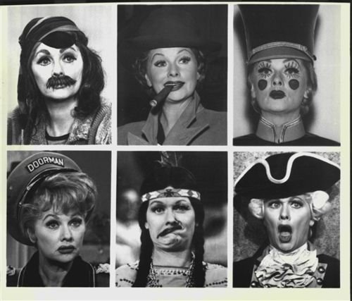 Lucille Ball— a lady who embraced her rubber face.