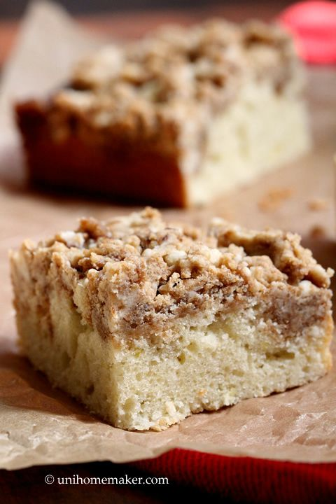 New York-Style Crumb Cake | Yummy New Recipies to Try! | Pinterest
