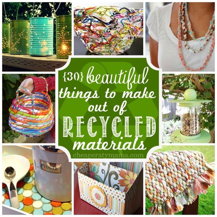 Pin by kate cheap crafty mama on best diy pins for Things to make with recycled materials