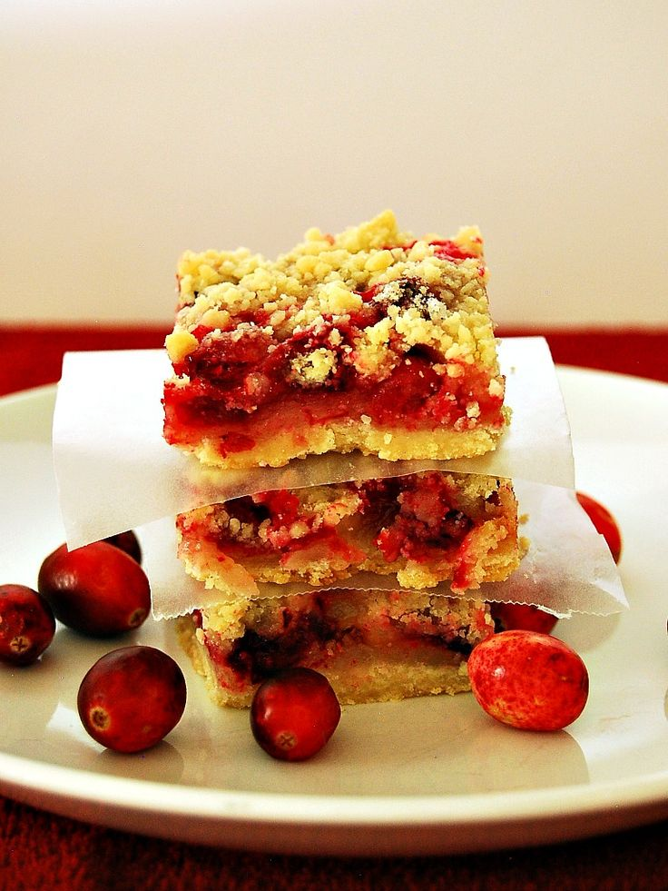 Cranberry Crumb Bars by The Redhead Baker