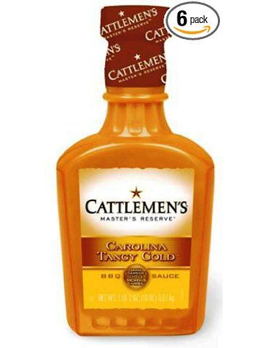 Cattlemen s barbecue sauce carolina tangy gold 18 ounce plastic