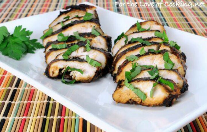 Balsamic - Mango Marinated Grilled Chicken Recipe — Dishmaps