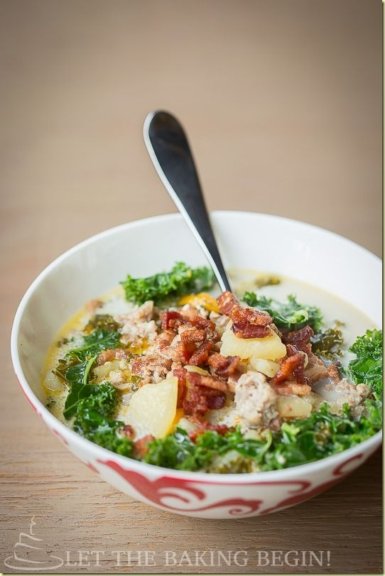 Full of flavorful meaty broth, bacon, fresh green kale and a slight ...