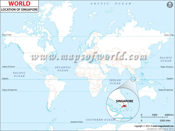 Location Map of Singapore MAPS OF THE WORLD Pinterest