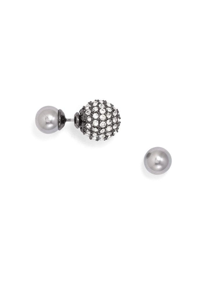 Pavé Pearl 360 Studs Earring | BaubleBar