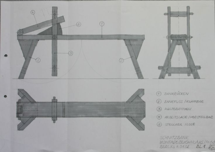 Shaving Horse Plans 1 | Woodworking - Medieval Techniques ...