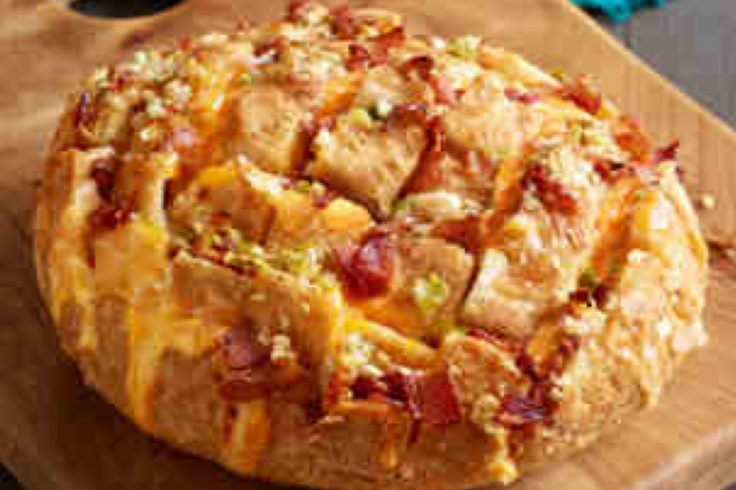 Grilled Ham And Cheese Pull-Apart Sandwich Loaf Recipe ...