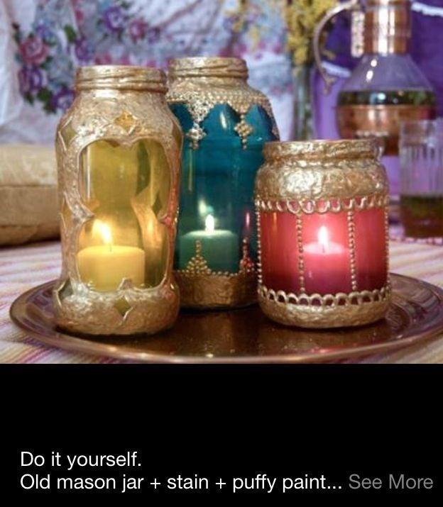 Candle jars decorating ideas pinterest