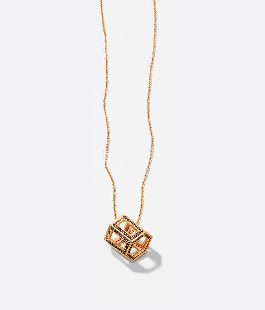 Luxe Deco Geometric Pendant Necklace Henri Bendel