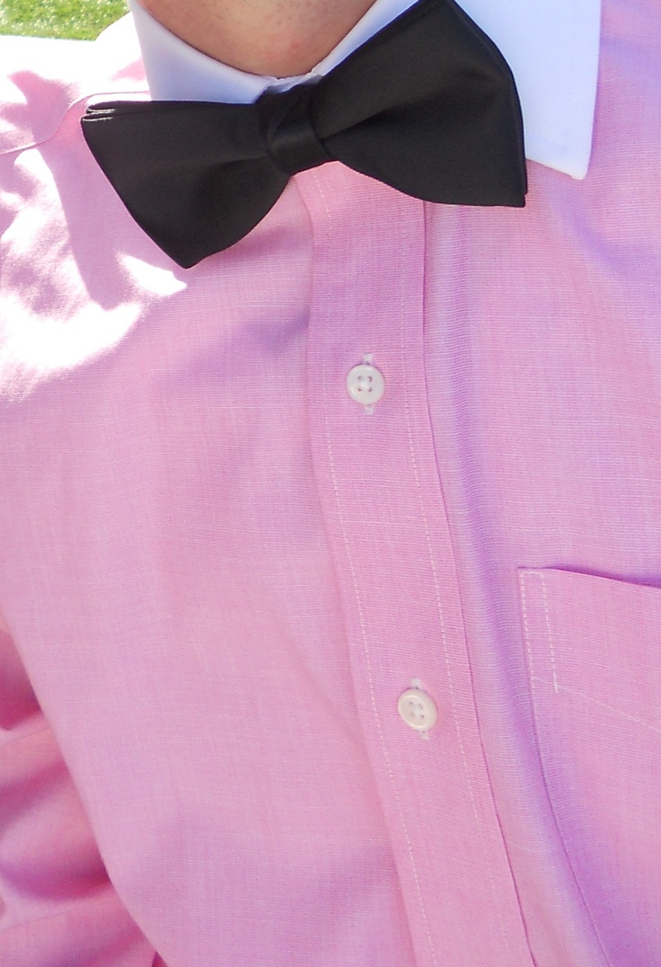 Pink Shirt Bow Tie Pink For Men Pinterest