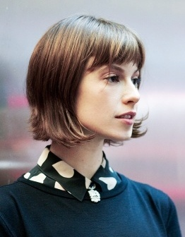Elettra Wiedemann with a layered bob | Hair, Makeup, Body | Pinterest