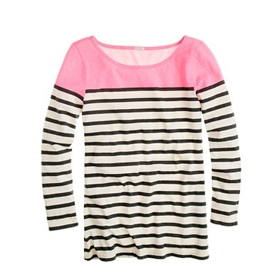 snapped up this j.crew colorblock boatneck... love the pink!