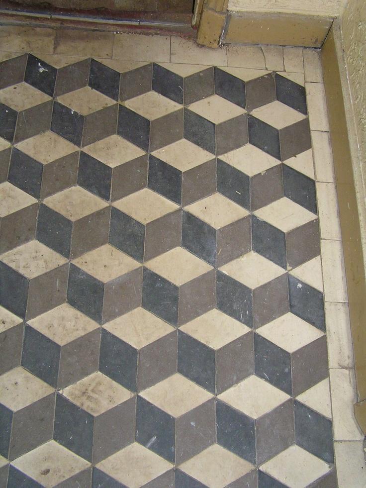 Tiles escher print alfred regout 1920 bathroom ideas for 1920 kitchen floor tile