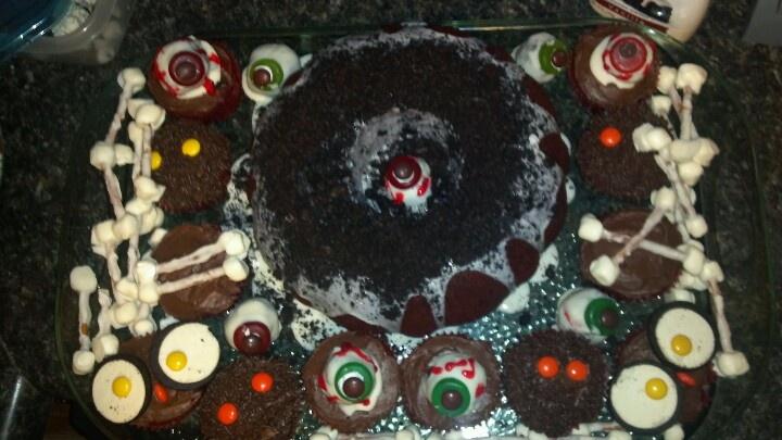 Halloween dessert tray for work