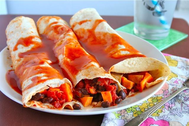 Black Bean and Sweet Potato Enchiladas. Probably need to start a ...