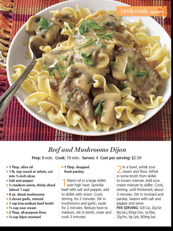 Beef and mushroom Dijon | Food/recipes | Pinterest