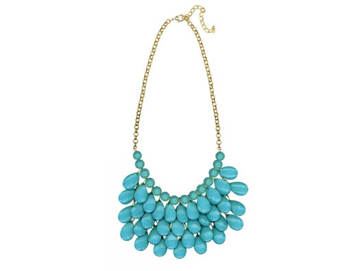 Layered Turquoise Necklace.