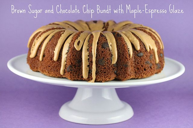 Brown Sugar and Chocolate Chip Bundt with Maple-Espresso Glaze - I ...
