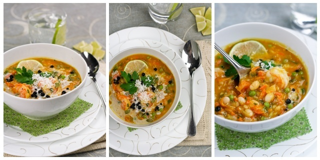 Pumpkin Coconut and Shrimp Chowder...this sounds really good!