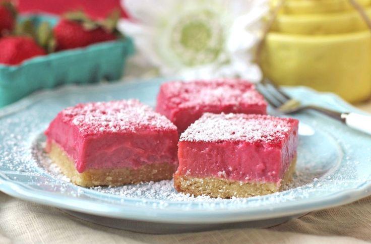 Healthy Pink Raspberry Lemonade Bars | Recipe