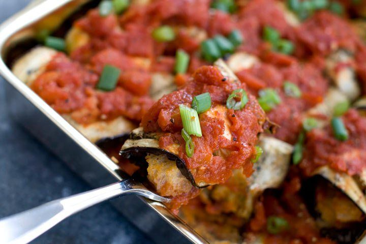 Recipe: Inside-out eggplant Parmesan rolls - a lighter take on a ...