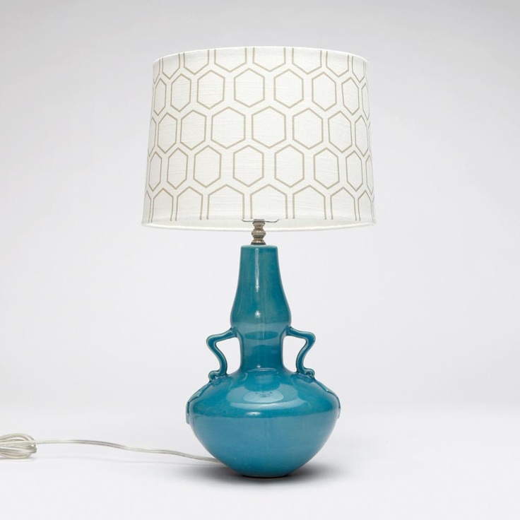 Fun Blue Table Lamp Made Goods Marina Table Lamp In Blue