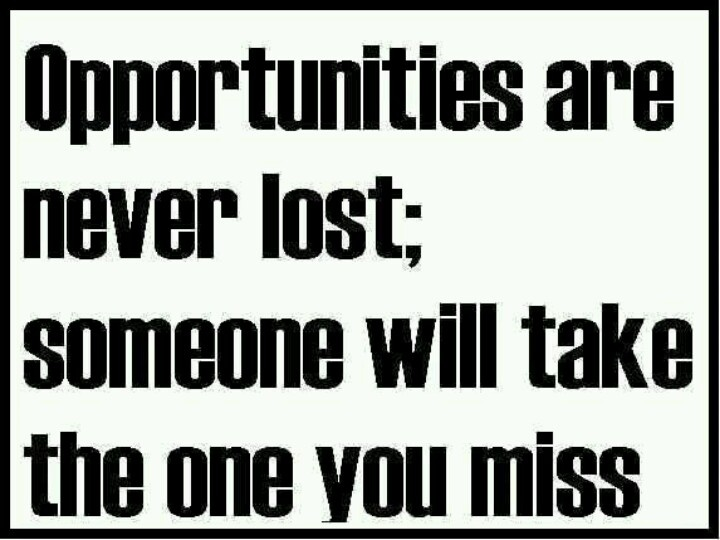 MISSING OPPORTUNITY Quotes Like Success