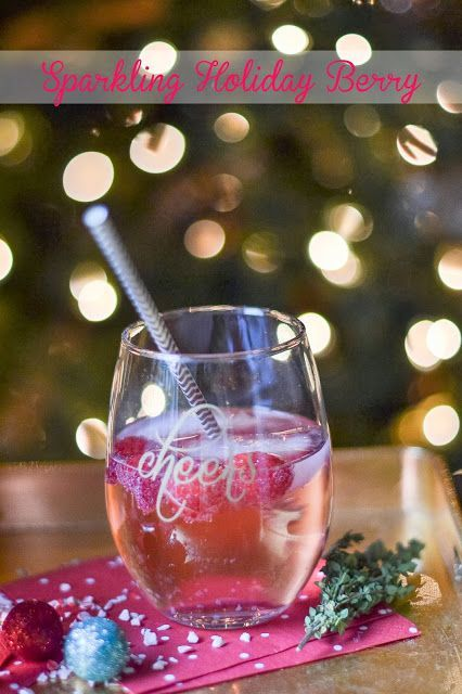 Sparkling Holiday Berry Cocktail with Sauza