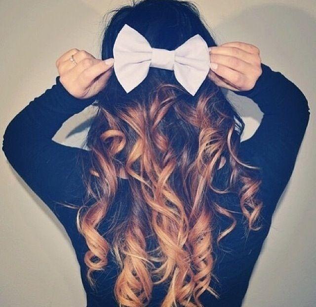 hair bows in curly hair - photo #30