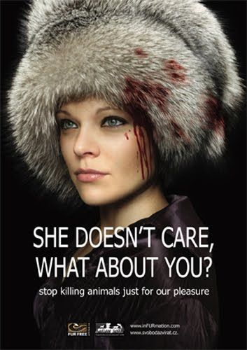 Super Punch: Design Against Fur poster contest - stop animal cruelty, stop animal abuse!