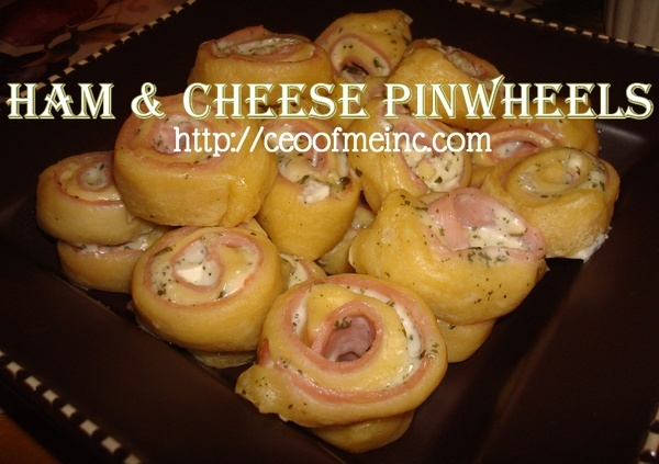 Ham Cheese Pinwheel #appetizers made with crescent rolls (can ...