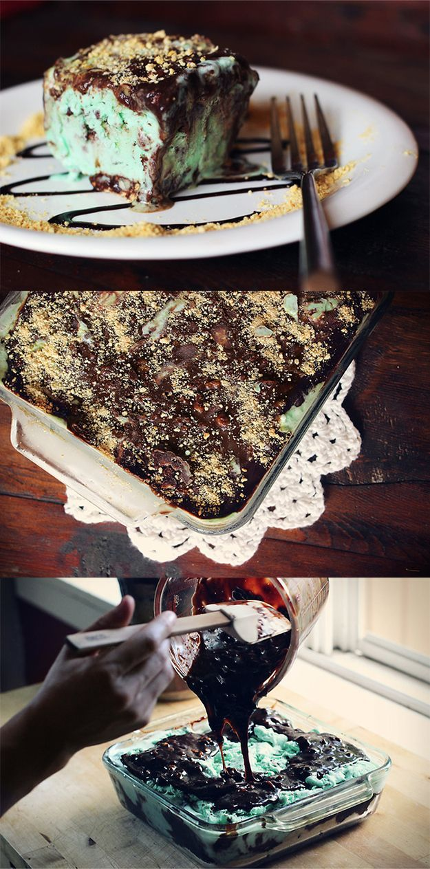 Fudgy Mint Chocolate Chip Ice Cream Cake | 29 Heavenly Treats For Mint ...