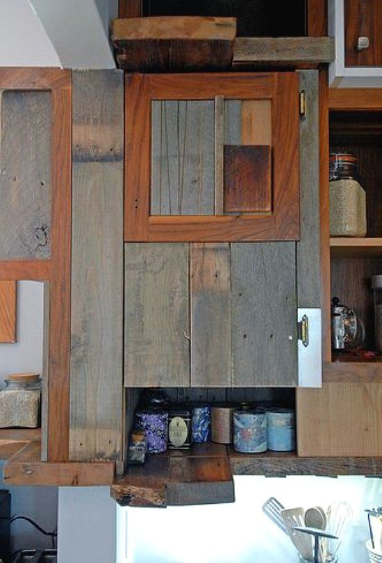 Reclaimed Wood Kitchen Cabinets Kitchen Pinterest