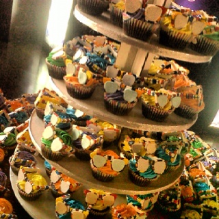 Made 200 La Boca Cupcakes for Ray ban's big event at Buddha Bar :)