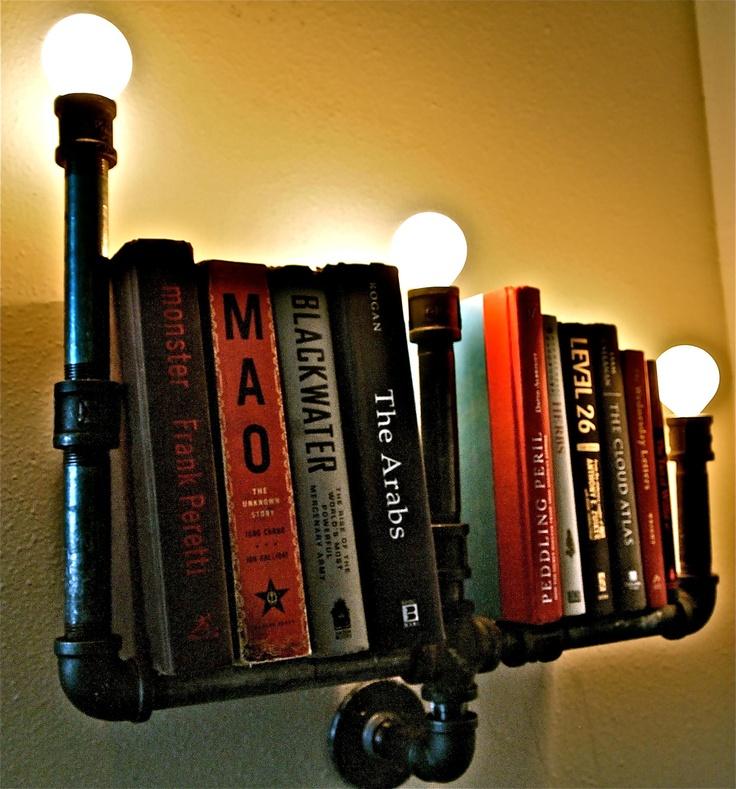 steampunk lampe aus alten rohrleitungen. Black Bedroom Furniture Sets. Home Design Ideas
