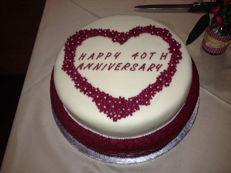 40th wedding anniversary cake 40th anniversary pinterest