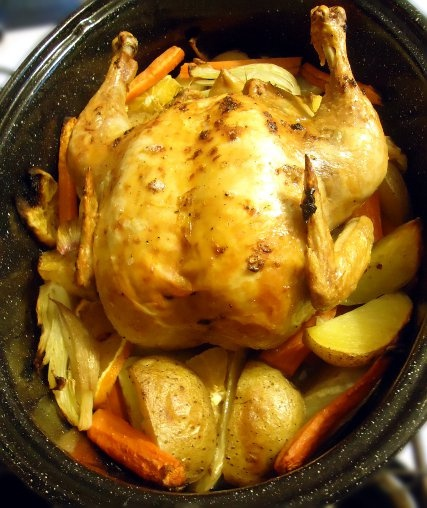 Roast Chicken With Fennel, Potatoes, And Citrus Recipes ...