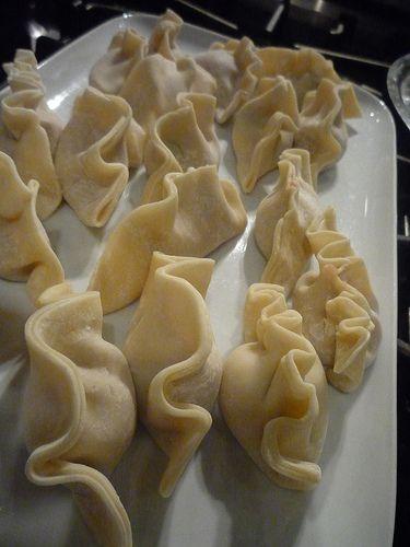Hand made pot stickers - Pork and Shrimp Gyoza recipe