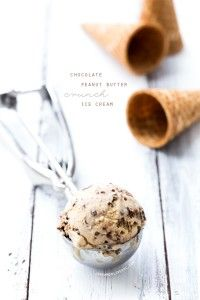 Chocolate Peanut Butter Crunch Ice Cream | Love and Olive Oil