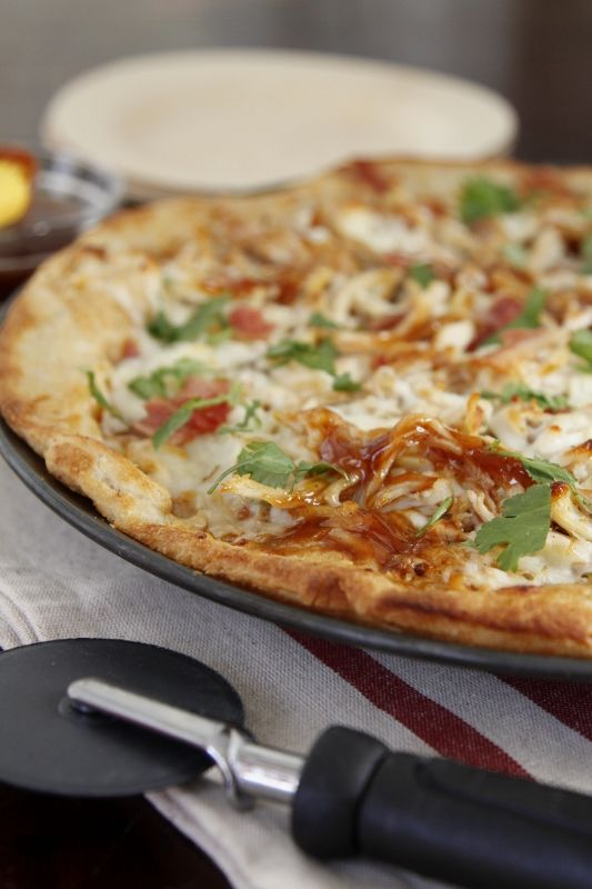 BBQ Leftover Turkey Pizza: made this with some homemade dough and ...