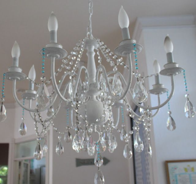 diy shabby chic chandelier diy pinterest