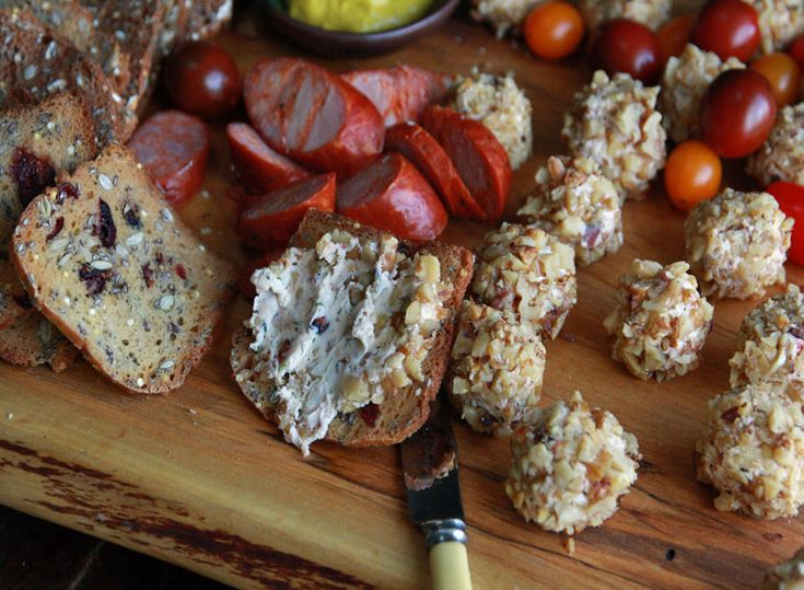 Savory Truffles: chevre, bacon, jam and dill all rolled in chopped ...
