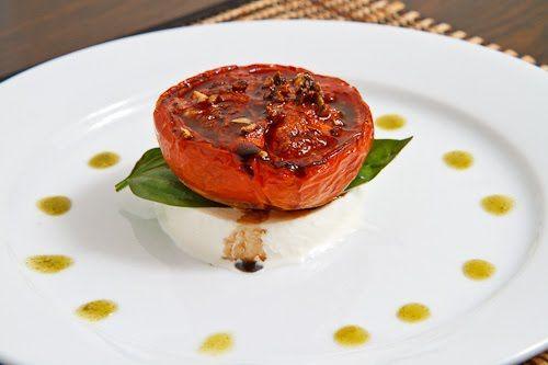 Balsamic Roasted Tomato Caprese Salad | Recipe