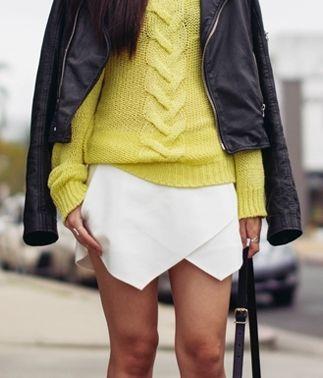 ZARA LOOKBOOK White Wrap Mini Skort Skirt Shorts UK X SMALL *BLOGGERS FAVOURITE*