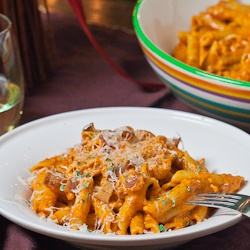 Roasted Red Pepper and Pecan Pesto Penne - simple and delicious dinner ...