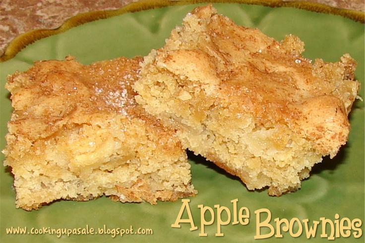 Apple Brownies | Food: Cooking Up a Sale | Pinterest