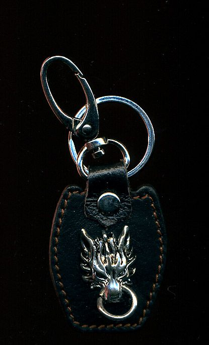 Final Fantasy VII Advent Children Cloudy Wolf Leather Keychain