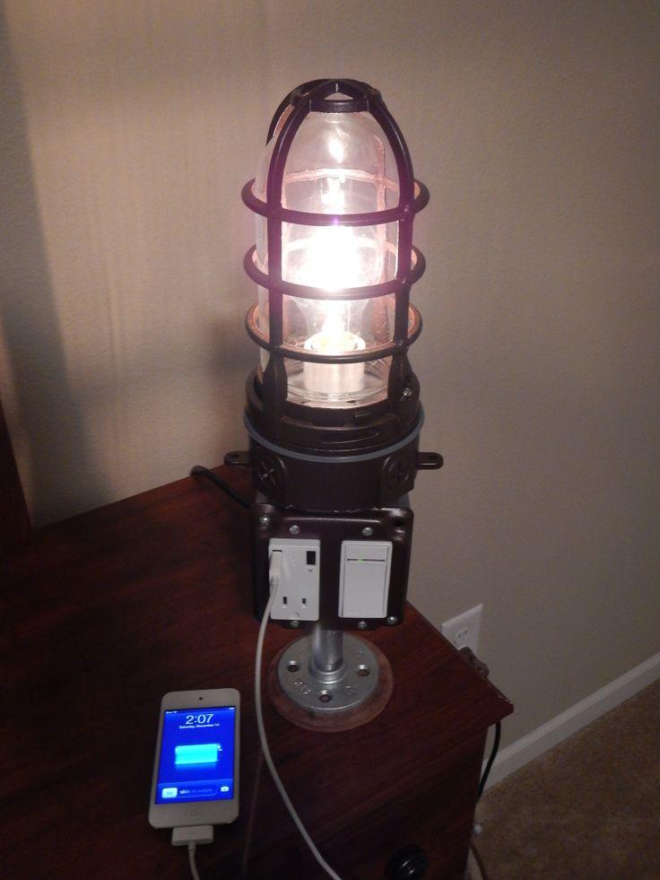 Usb Charging Lamp Diy Usb Charging Station Lamp Pinterest