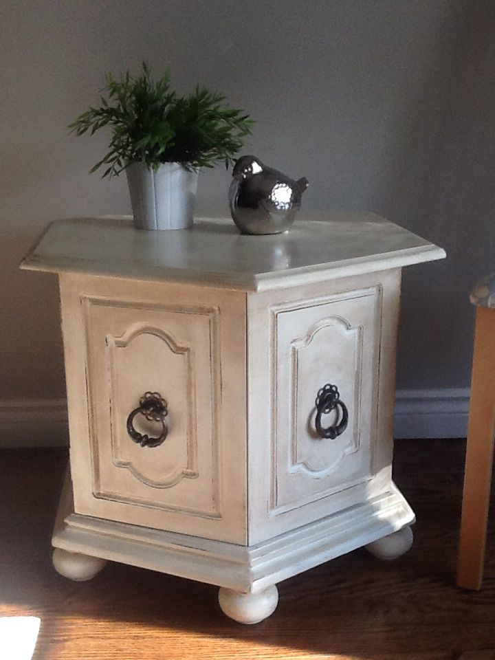 End Table Painted With Diy Chalk Paint Projects Pinterest