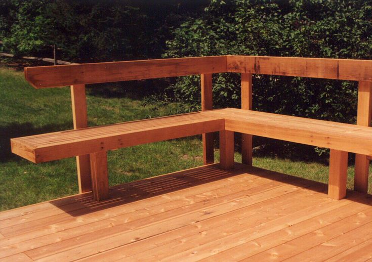 Deck seating garden related pinterest for Garden decking seating